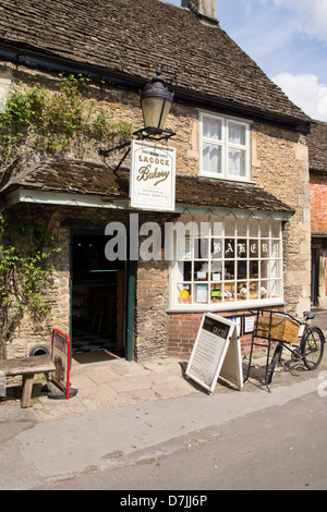 Lacock village Bakery shop, in Wiltshire England UK - Stock Photo