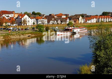 Minden on the Weser, North Rhine-Westphalia, Germany - Stock Photo