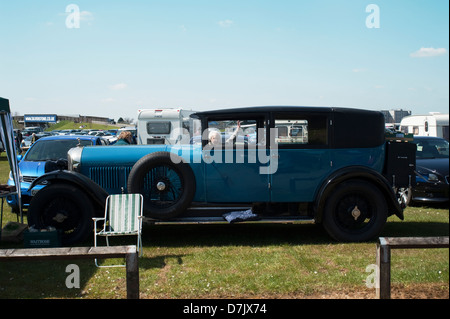 A vintage Bentley at the VSCC Spring Start Event at Silverstone, Northamptonshire,England, UK. - Stock Photo