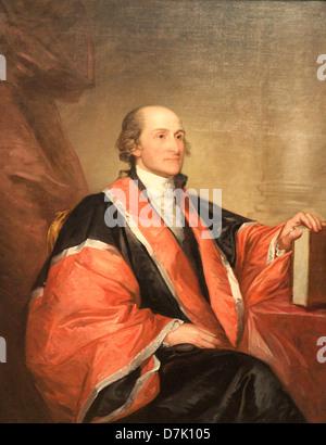 John Jay by Gilbert Stuart - Stock Photo