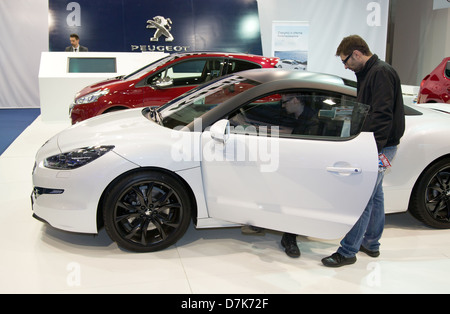 Poznan, Poland, the Peugeot RCZ at the Motor Show 2013 - Stock Photo
