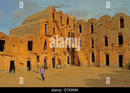 Ksar Ouled Soltane, Tataouine Province, Tunesia. - Stock Photo