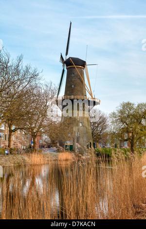 Schiedam, windmill, South Holland, Netherlands - Stock Photo