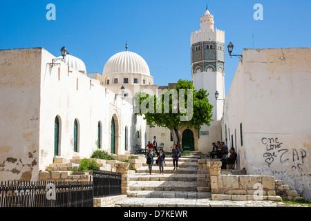 Mosque of Sidi Bou Makhlouf in the Medina of Le Kef Tunisia - Stock Photo