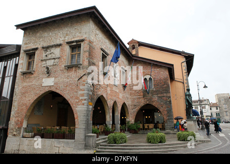 The Palazzo Communale (Civic Palace) in Cividale del Friuli, Italy. - Stock Photo