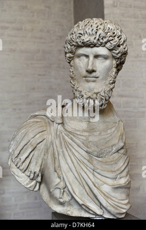 Lucius Verus (130 – 169). Roman co-emperor with Marcus Aurelius, from 161 until his death. Dynasty Antonine. - Stock Photo
