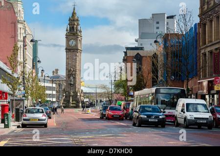 High Street Belfast - Stock Photo