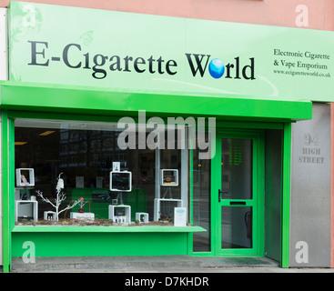 E-Cigarette World in Belfast - Stock Photo
