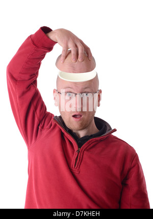 concept of an open mind or no brains - Stock Photo