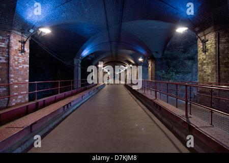 The Dark Arches, Granary Wharf  in Leeds - Stock Photo