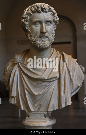 Antoninus Pius ( 86-161 AD), also known as Antoninus, was Roman Emperor from 138 to 161. Nerva-Antonine dynasty. - Stock Photo
