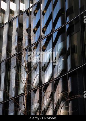 Reflection in glass windows of  a modern London office block