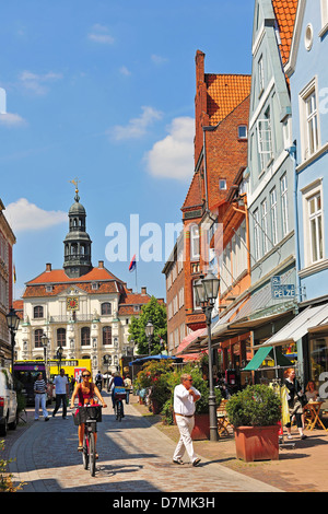 The historic town hall in Lüneburg, Lueneburg, Lower Saxony, Germany - Stock Photo