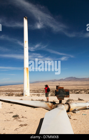 Broken wind turbine - Stock Photo