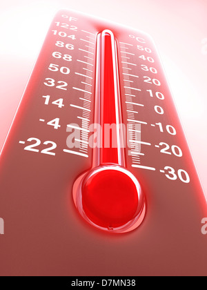 High temperature, artwork - Stock Photo