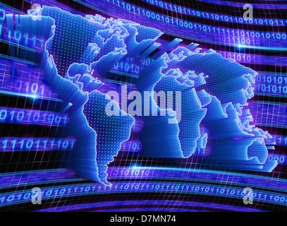 Digital world, conceptual artwork - Stock Photo