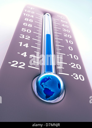 Global warming, conceptual artwork - Stock Photo
