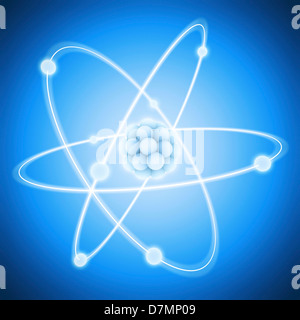 Atom, artwork - Stock Photo