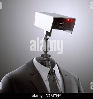 Surveillance, conceptual artwork - Stock Photo