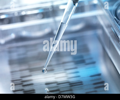 Genetic research, conceptual image - Stock Photo