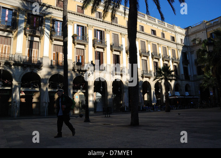 Plaza Real in Barcelona, Spain. - Stock Photo