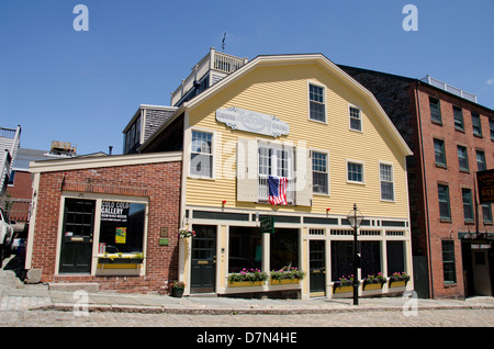Massachusetts, New Bedford. Historic Centre Street, one of the oldest streets in New Bedford. - Stock Photo