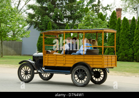 Michigan, Wyandotte. Greenfield Village. Vintage Ford automobile. National Historical Landmark. - Stock Photo