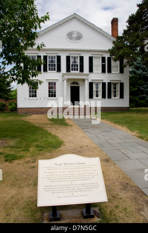Michigan, Wyandotte. Greenfield Village. Noah Webster House, c. 1823. - Stock Photo