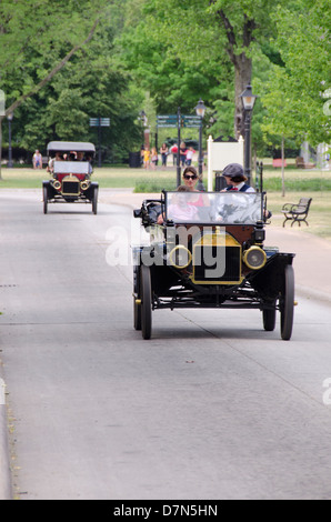 Michigan, Wyandotte. Greenfield Village. Vintage Ford convertible automobile. National Historical Landmark. - Stock Photo
