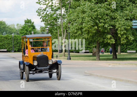 Michigan, Wyandotte. Greenfield Village. Vintage Ford automobile. National Historical Landmark. - Stock Photo