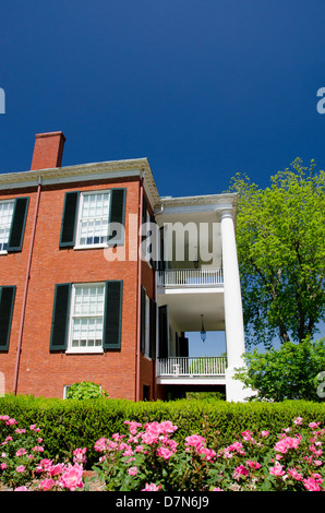 Mississippi, Natchez. Spring Pilgrimage, Antebellum home 'Rosalie' , Union HQ during the Civil War. National Historic - Stock Photo