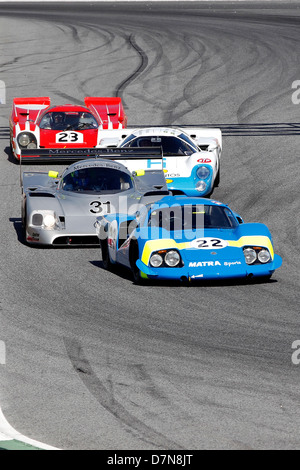 Group C and Historic Sports Cars free practice at Barcelona Catalonia Classic Revival, Montmelo circuit, April 2013 - Stock Photo