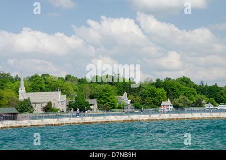 New York, Skaneateles. Skaneateles Lake, one of the Finger Lakes in central New York. - Stock Photo
