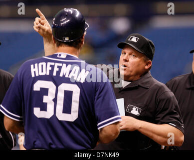 May 10, 2013 - St. Petersburg, Florida, U.S. - DANIEL WALLACE   |   Times.Home plate umpire Fieldin Culbreth (25), - Stock Photo
