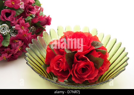 Rose flower arrangement with roses Strauss - Stock Photo