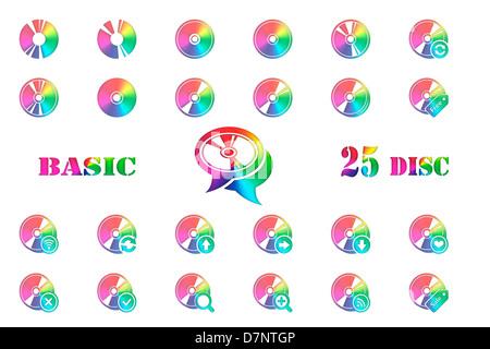 disc icon - Stock Photo