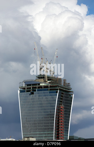 The 20 Fenchurch Street building aka ' Walkie Talkie' under construction in April 2013. London - Stock Photo