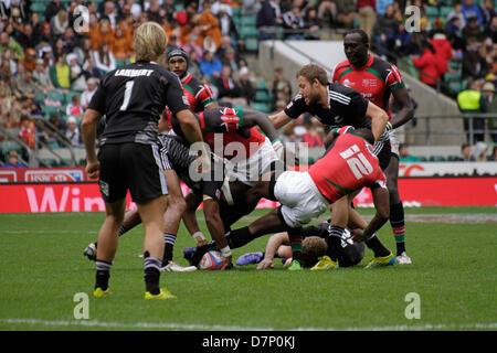 London, UK. 11th May 2013. New Zealand v Kenya during the Marriott London Sevens at Twickenham Stadium. Credit: - Stock Photo