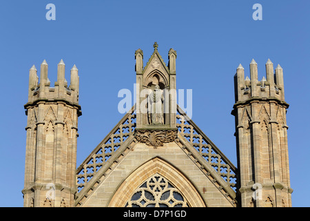 Detail of the Metropolitan Cathedral of St Andrew in the Roman Catholic Archdiocese of Glasgow, Clyde Street, Scotland, - Stock Photo