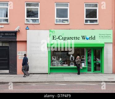 E-Cigarette World, High Street, Belfast, Northern Ireland - Stock Photo