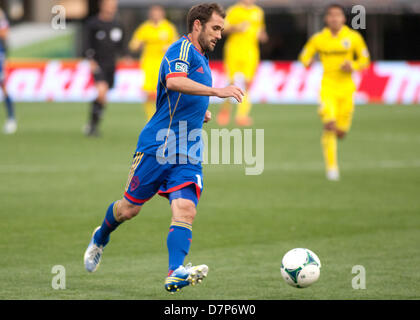 Columbus, OH, US - May 11, 2013: Colorado Rapids Brian Mullan (11) plays the ball during the Major League Soccer - Stock Photo