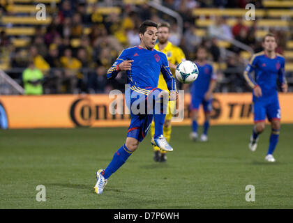 Columbus, OH, US - May 11, 2013: Colorado Rapids Martin Rivero (10) looks to control the ball during the Major League - Stock Photo