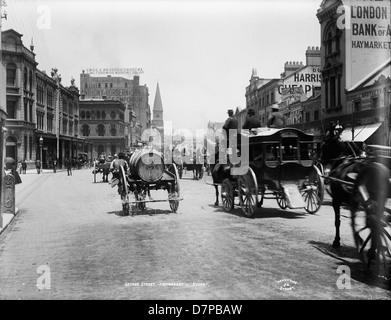 George Street, Haymarket, Sydney - Stock Photo