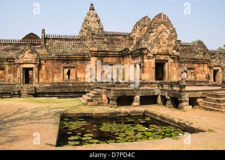 Wat Prasat Muang Tam, Palace of the lower city, Palast der unteren Stadt, - Stock Photo