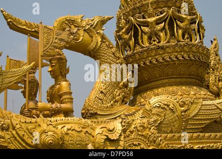 wax sculpture, Wachsskulptur Thien Pansa Ubon - Stock Photo