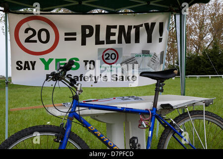 Southport, UK 12th May, 2013. 20 Plenty Speed campaign at Camp Frack 2 a broad coalition of anti-fracking and environmental - Stock Photo