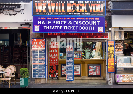 Theater Billboard Advertising Musicals and west end Shows at the box Office - Stock Photo