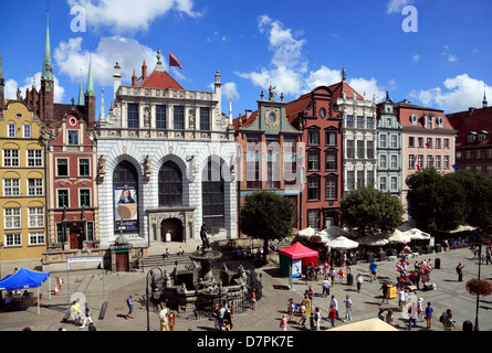 Dlugi Tark, Langer Markt, Long Market, Gdansk, Poland - Stock Photo