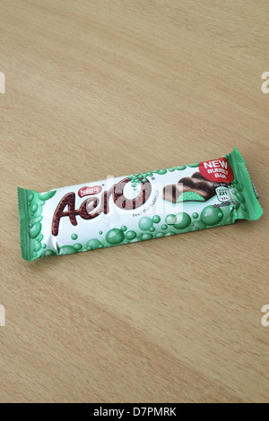 Nestle Aero Mint Chocolate Bar - Stock Photo