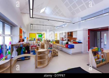 unoccupied nursery school classroom Whitley Park Nursery School Reading - Stock Photo